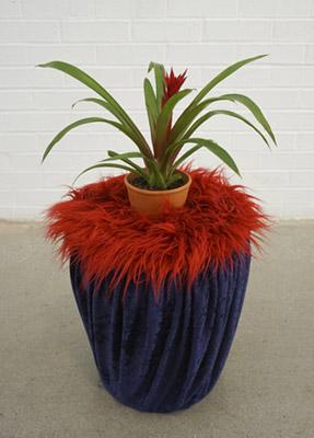 Worm Cozy Fuzzy Plant Stand